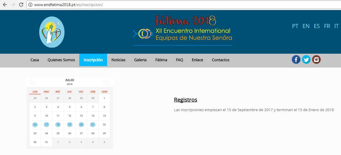 Encuentro Internacional Fatima 2018